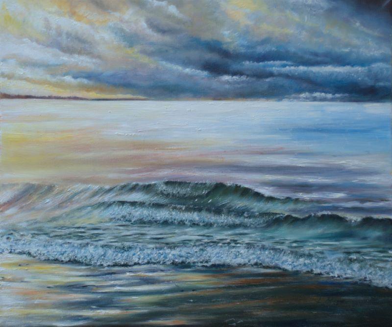 Blue Wave Sea Art