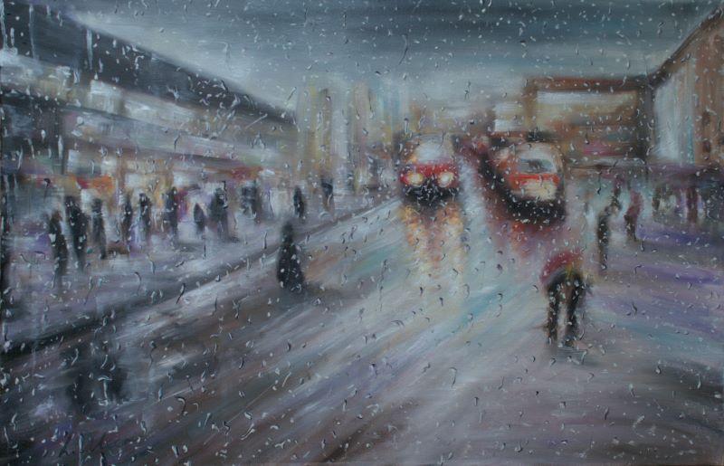 Christmas Rain Shopping