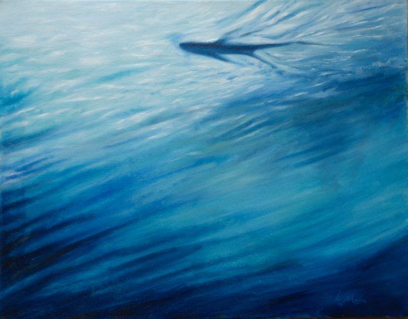 Ripple blue water Art