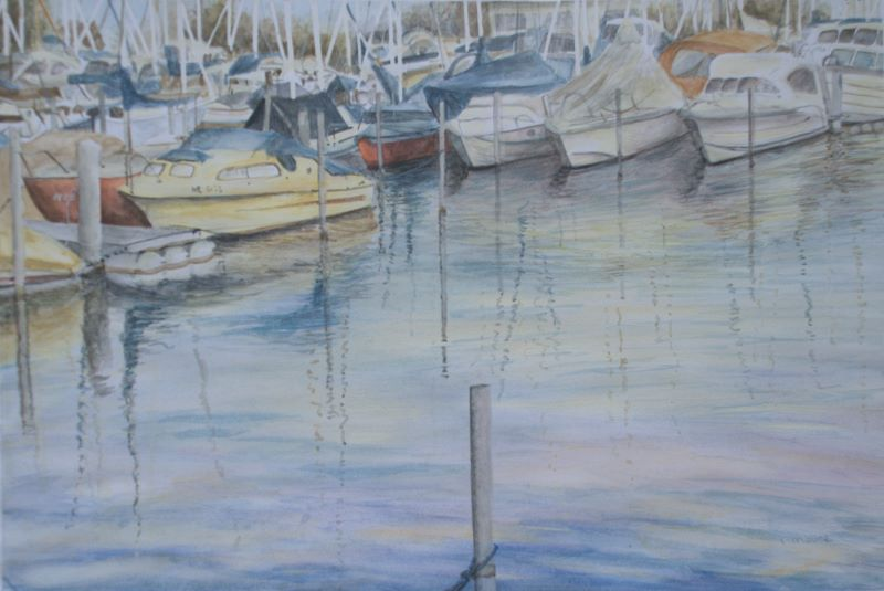 Summer Boating boat Art