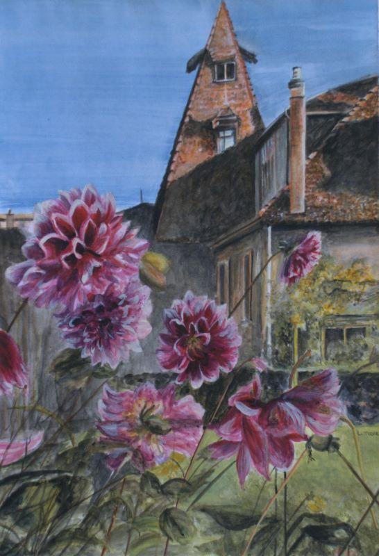 The Dhalias Flower Art