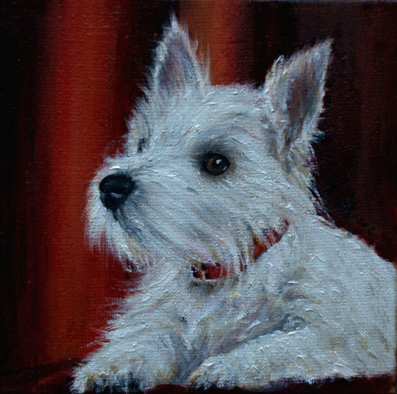 Westie Terrier Art