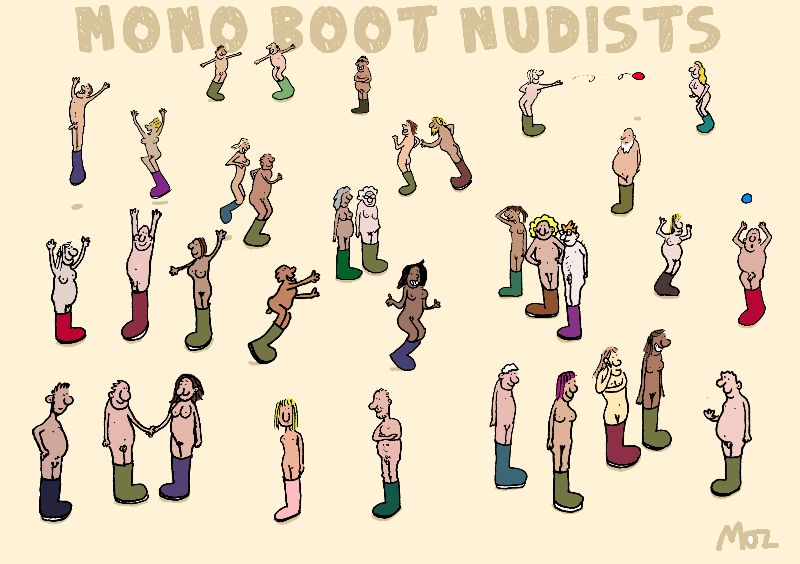 Mono Boot Nudists