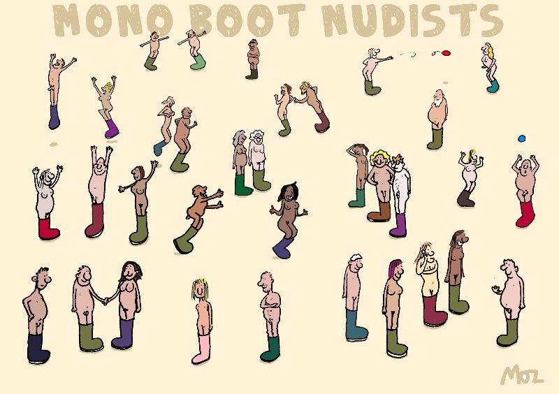 Mono Boot Nudists