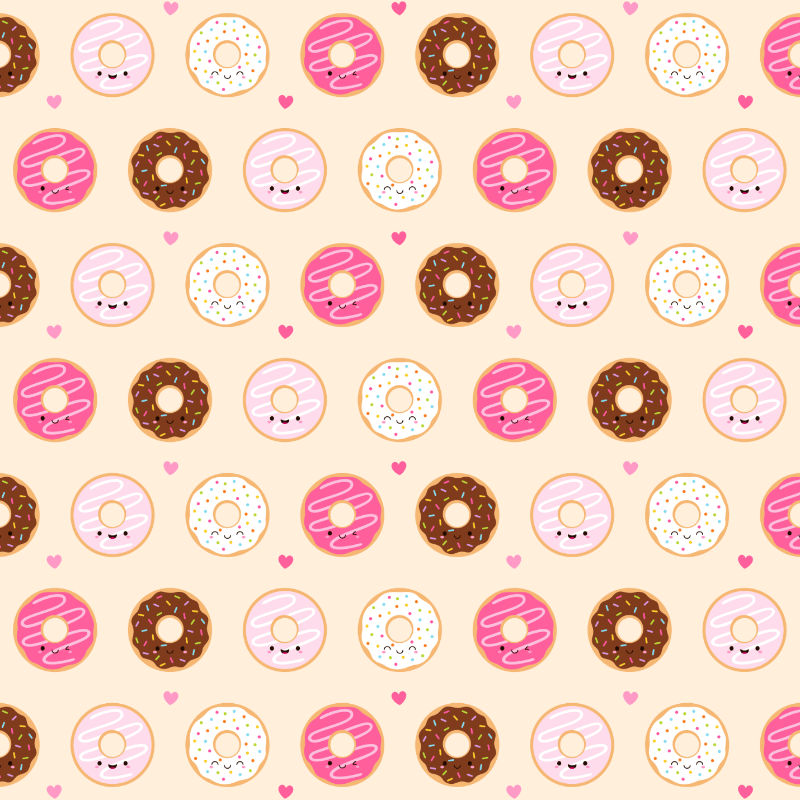 Cute Donuts on cream