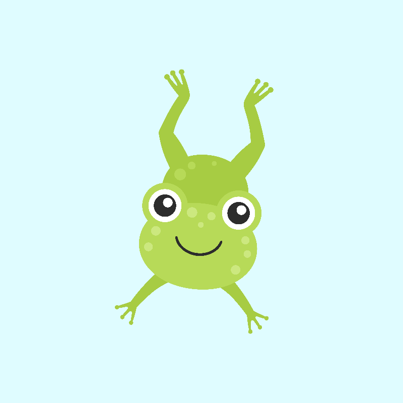 Cute Happy Jumping Frog