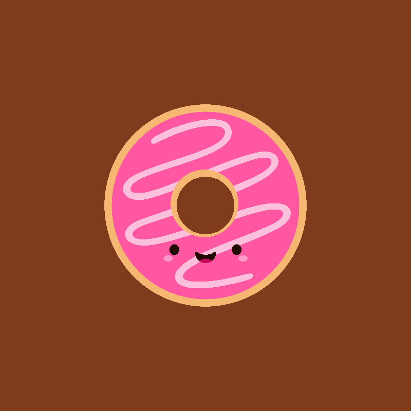 Cute Kawaii Pink Donut