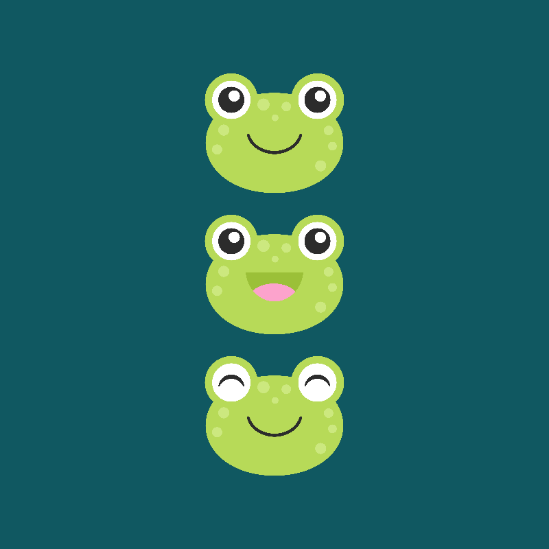 Happy Little Frog Faces