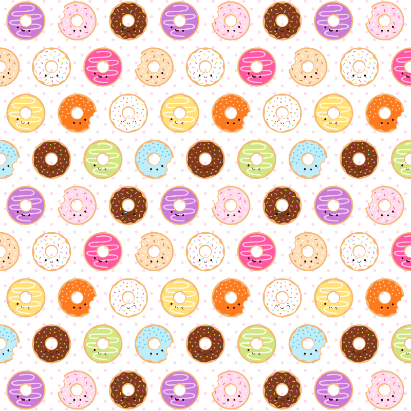 Kawaii Happy Donuts