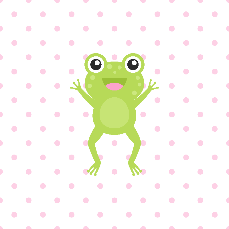 Kawaii Jumping Frog