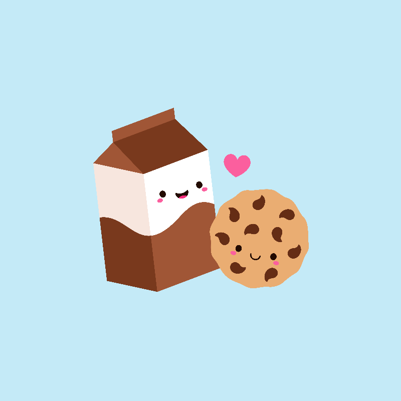 Milk Carton and Cookie