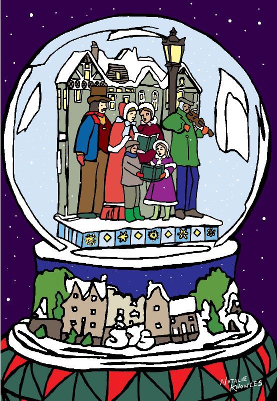 Carolers in a Snow Globe