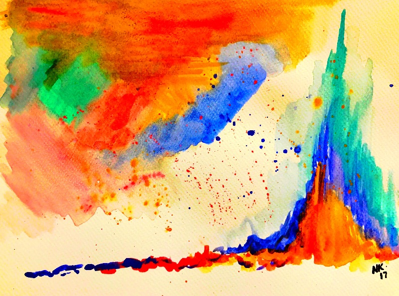 Colourful vivid abstract
