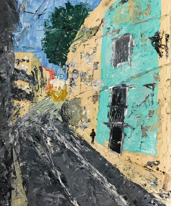 Lisbon scene abstract