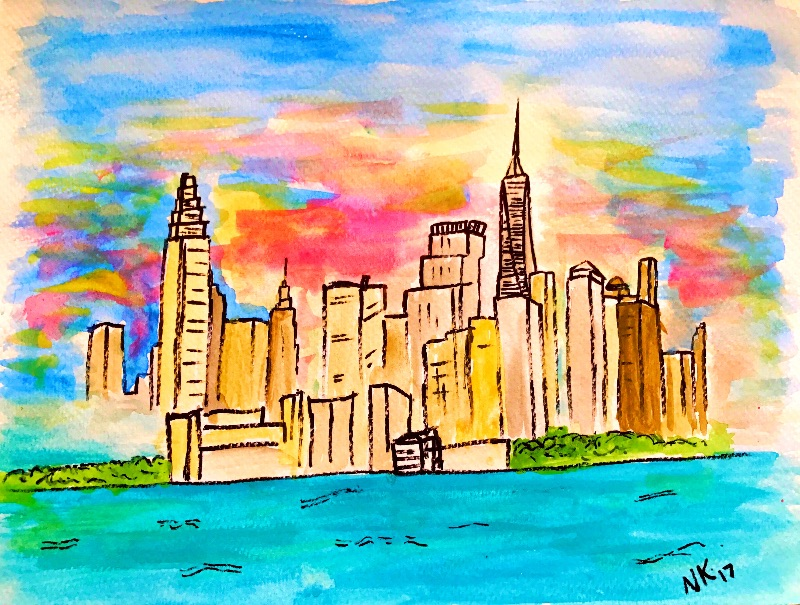 New York Skyline art