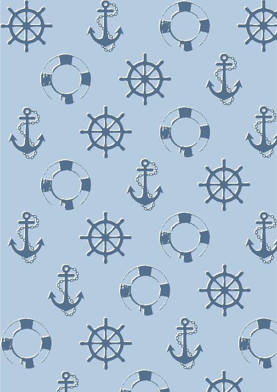 Marine Blue Nauticalia