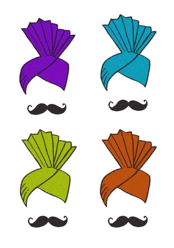 Colourful Turbans