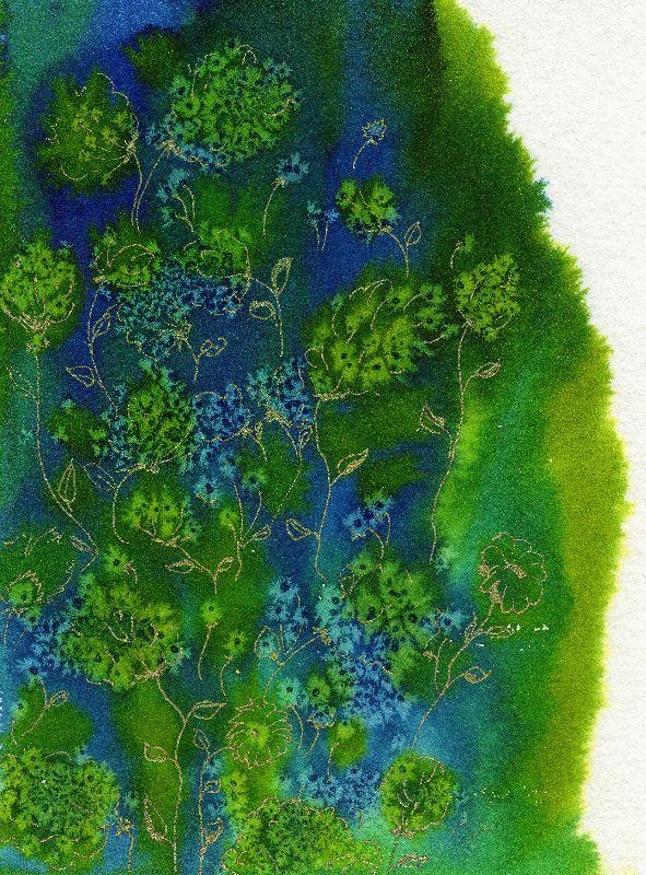 Blue Green Watercolour