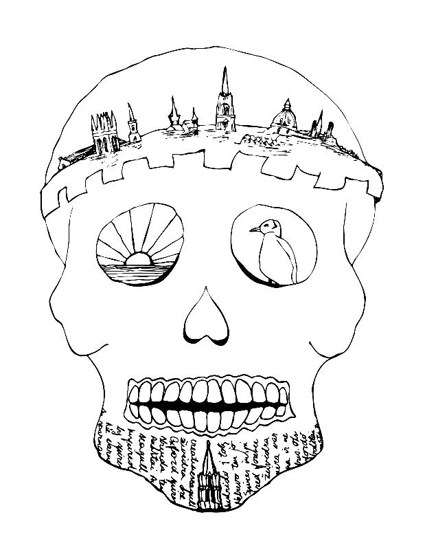 Sugar Skull Oxford Crown