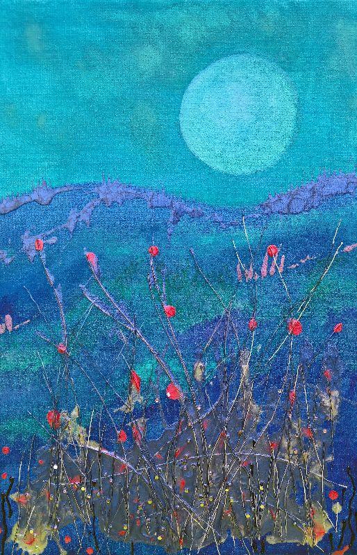Landscape moon