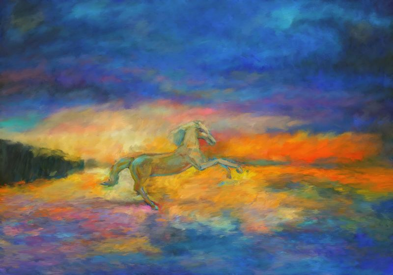 Horse Sunset Beach
