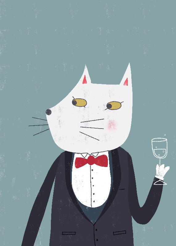 Cheers! Gentleman Cat