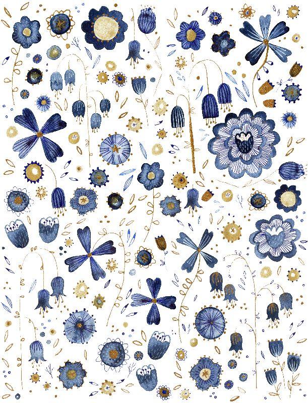 Indigo Flower Mashup