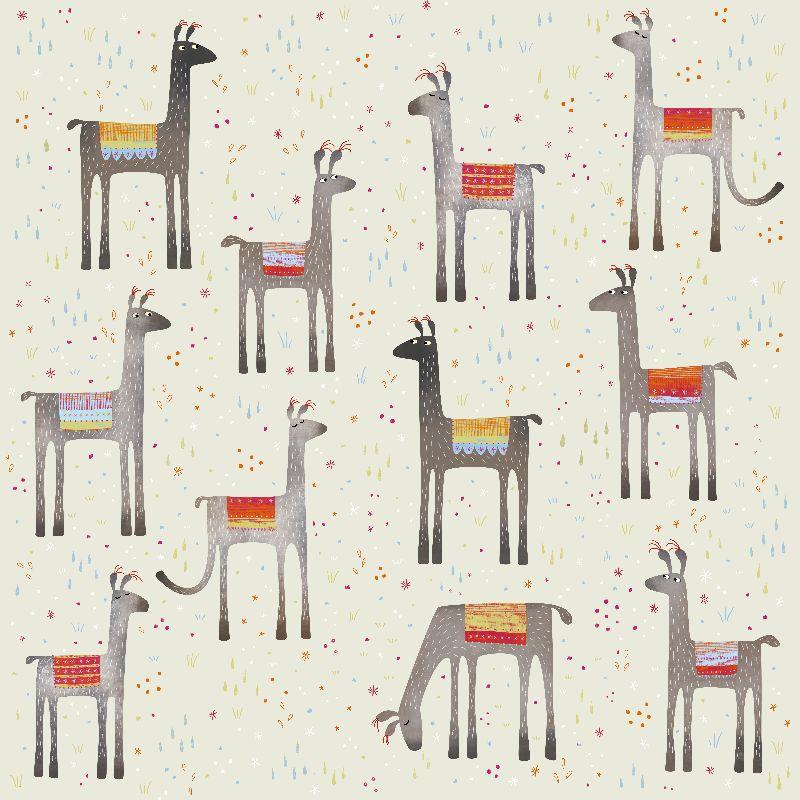 Llamas in a Meadow