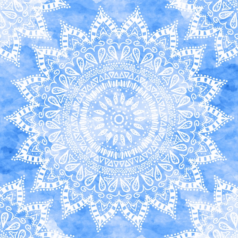 BOHEMIAN MANDALA IN BLUE