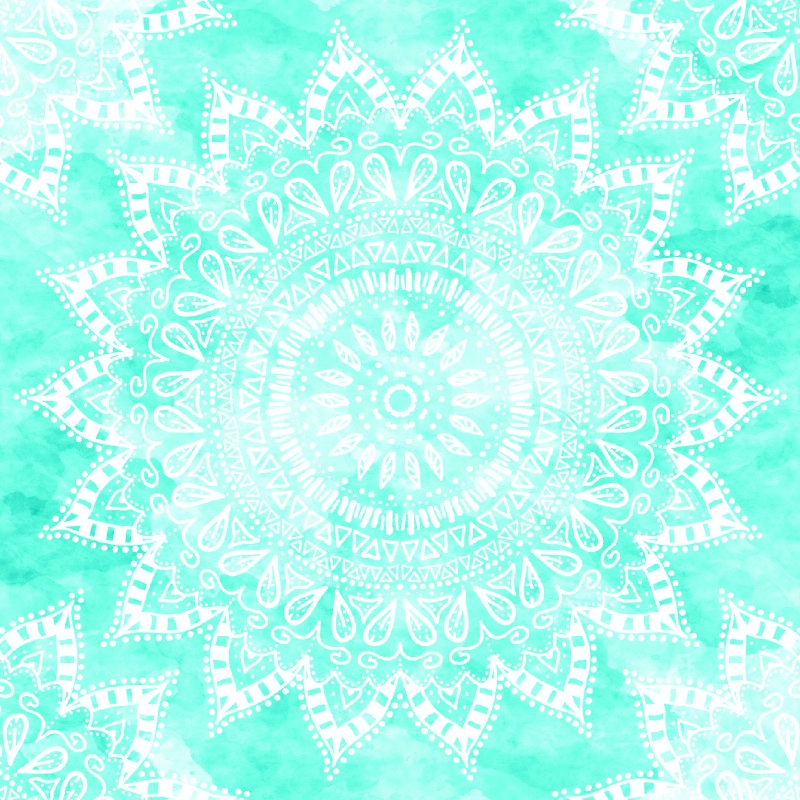 BOHO MANDALA  IN TEAL