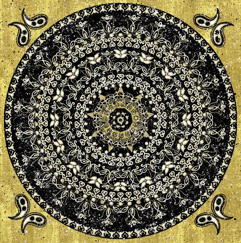 Black Glitter Mandala