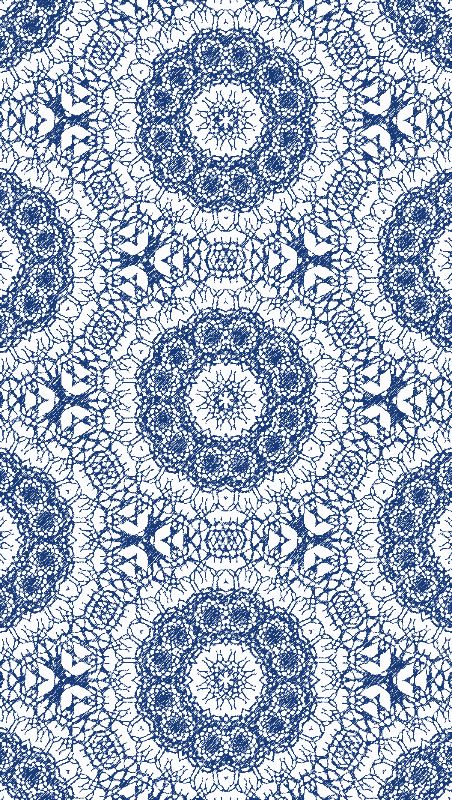 Blue Laced Mandalas