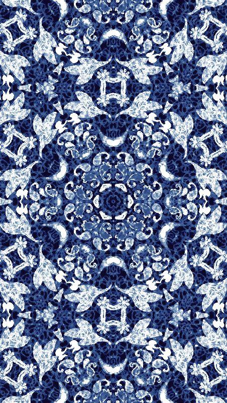 Blue Leaf Paisley