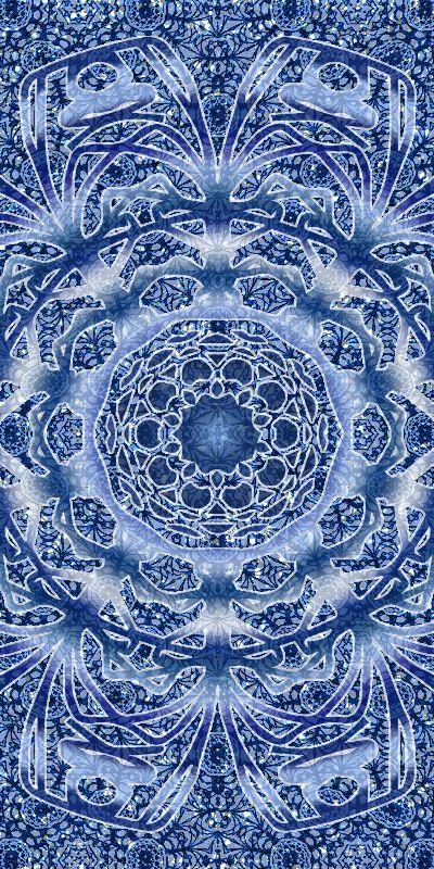 Blue Lumi Lace Mandala