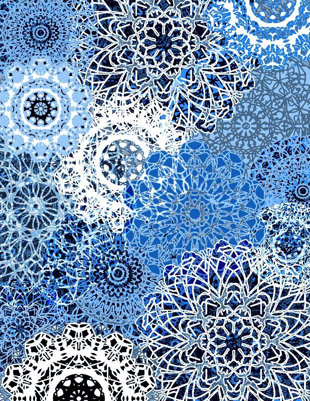 Blue Star Mandalas