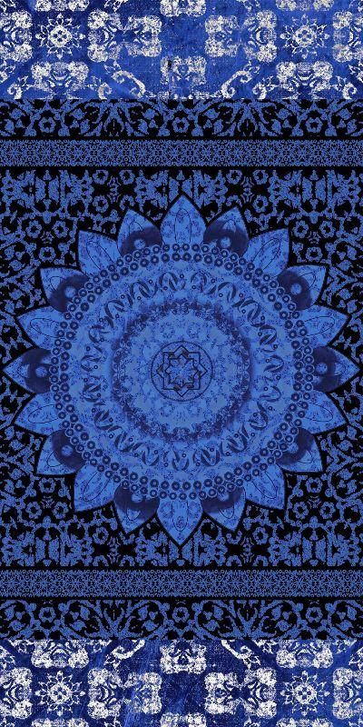 Indigo Jacquard Mandala