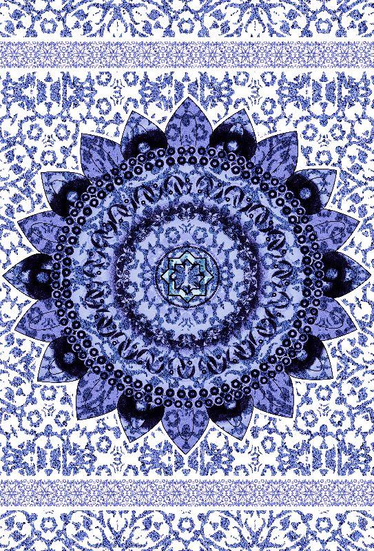 Lavander Glitter Mandala