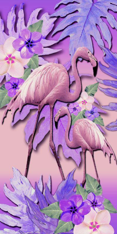 Lilac Flamingos