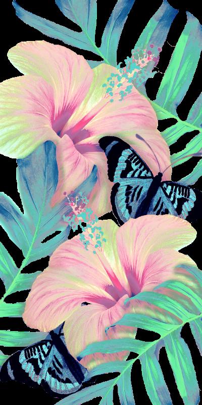Peach Hibiscus Aloha