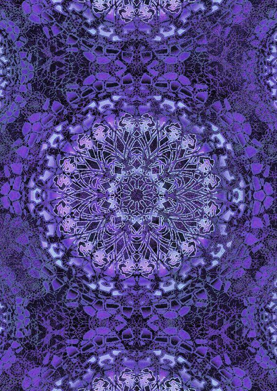 Purple Pool Mandala