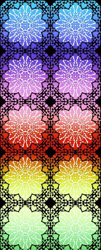 Rainbow Lace Mandalas