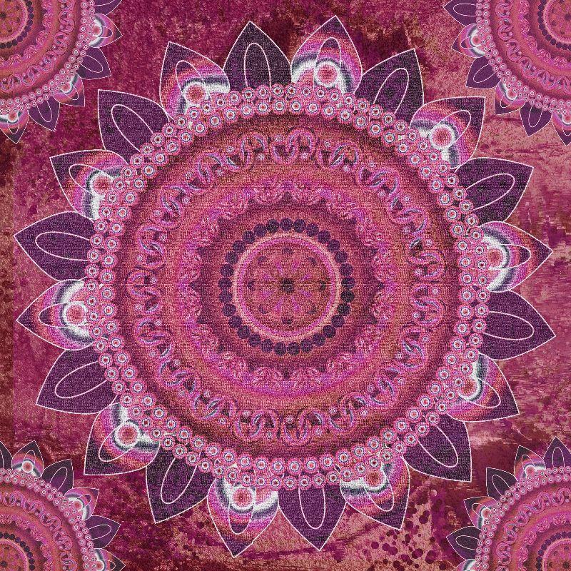 Rose Gold Sea Mandala
