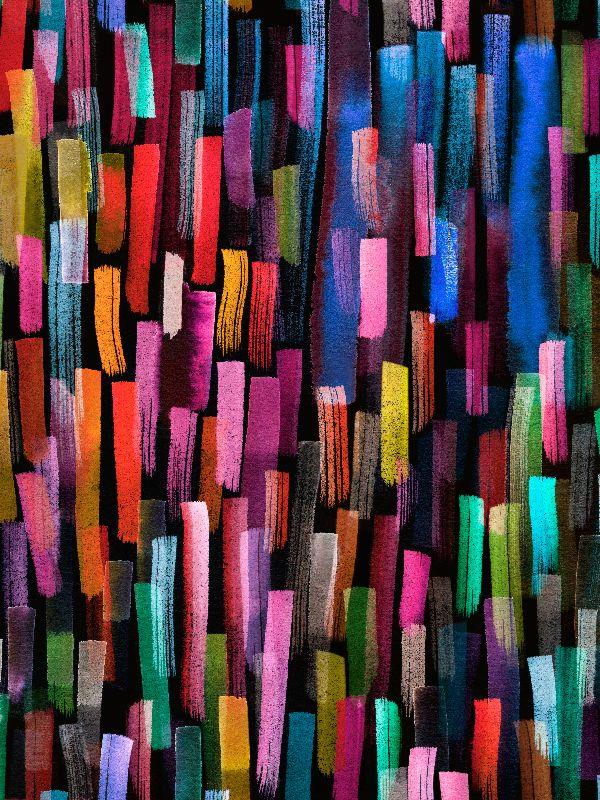 Color Brushstrokes Black
