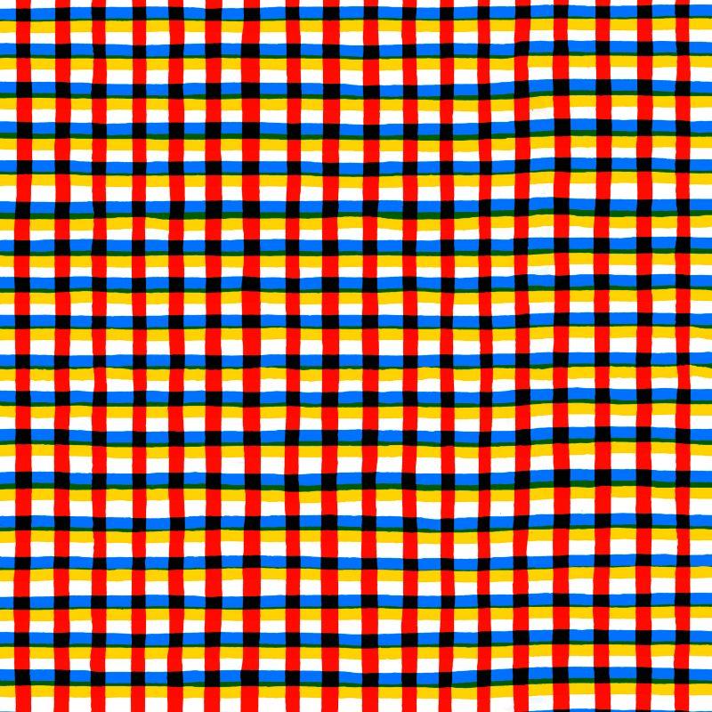 Crossed Eyes Red Stripes