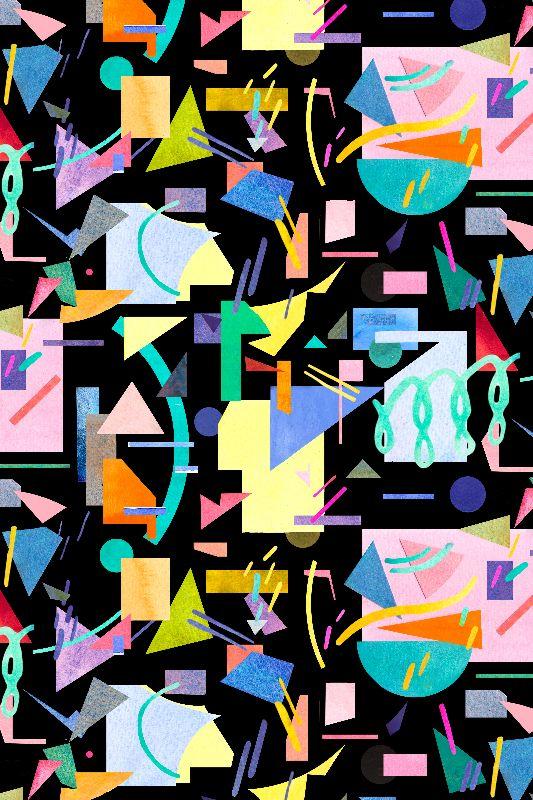 Geometric Pop Black