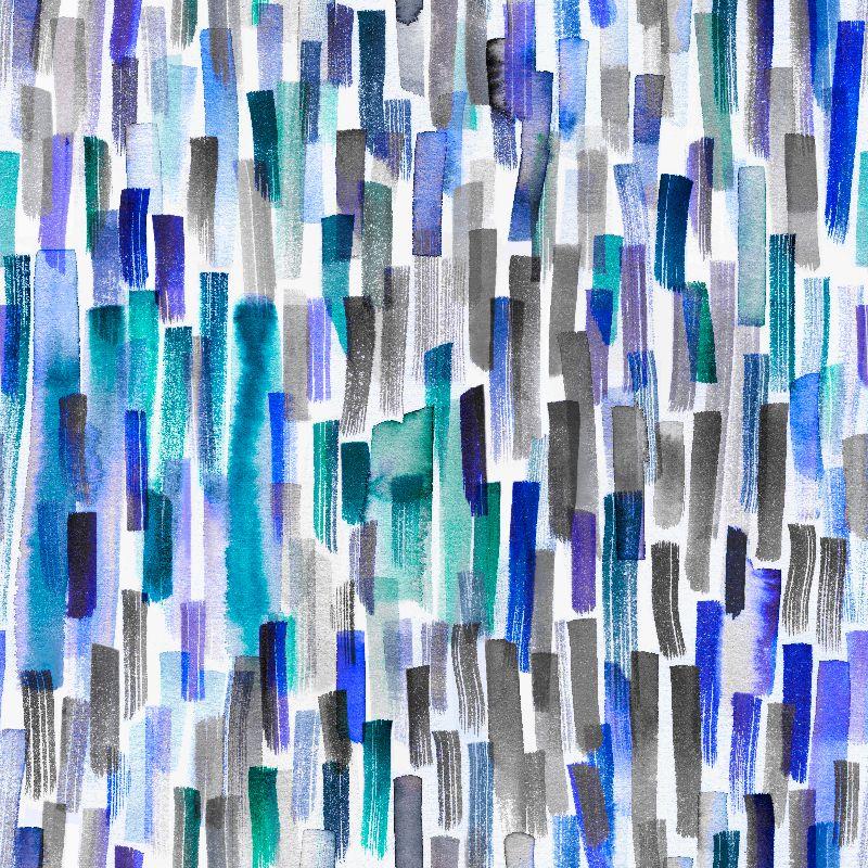 Marine Blue Brushstrokes