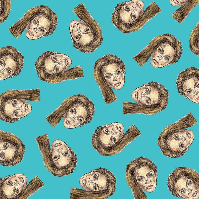 Beyonce Head Pattern
