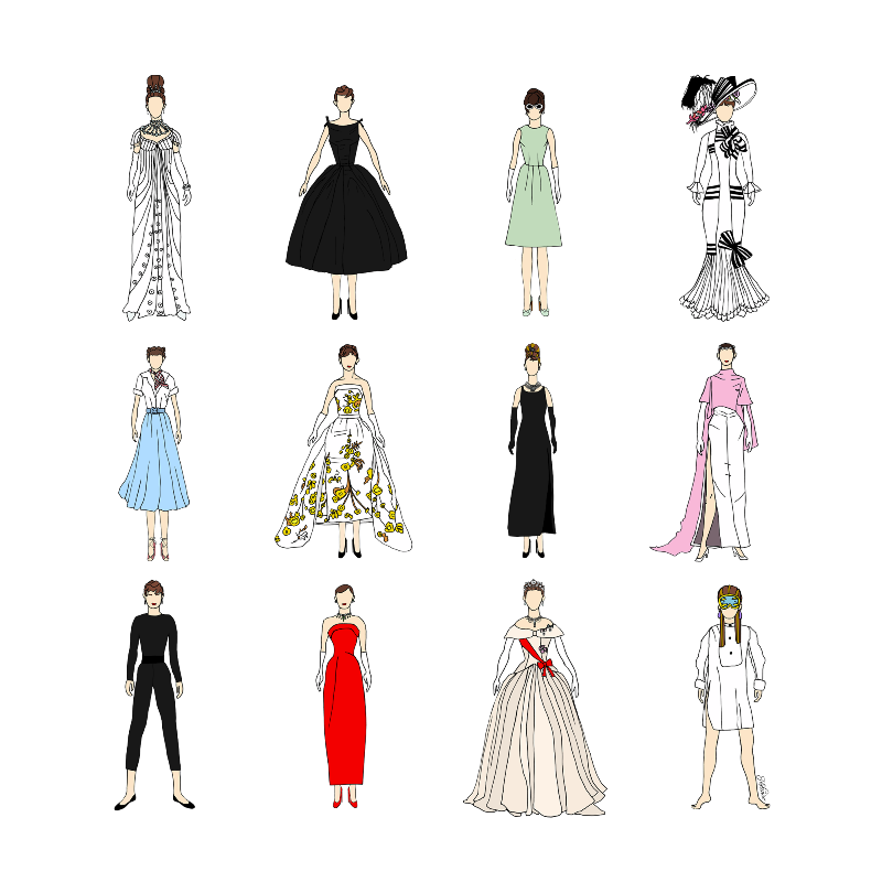 Outfits of Audrey Fashion