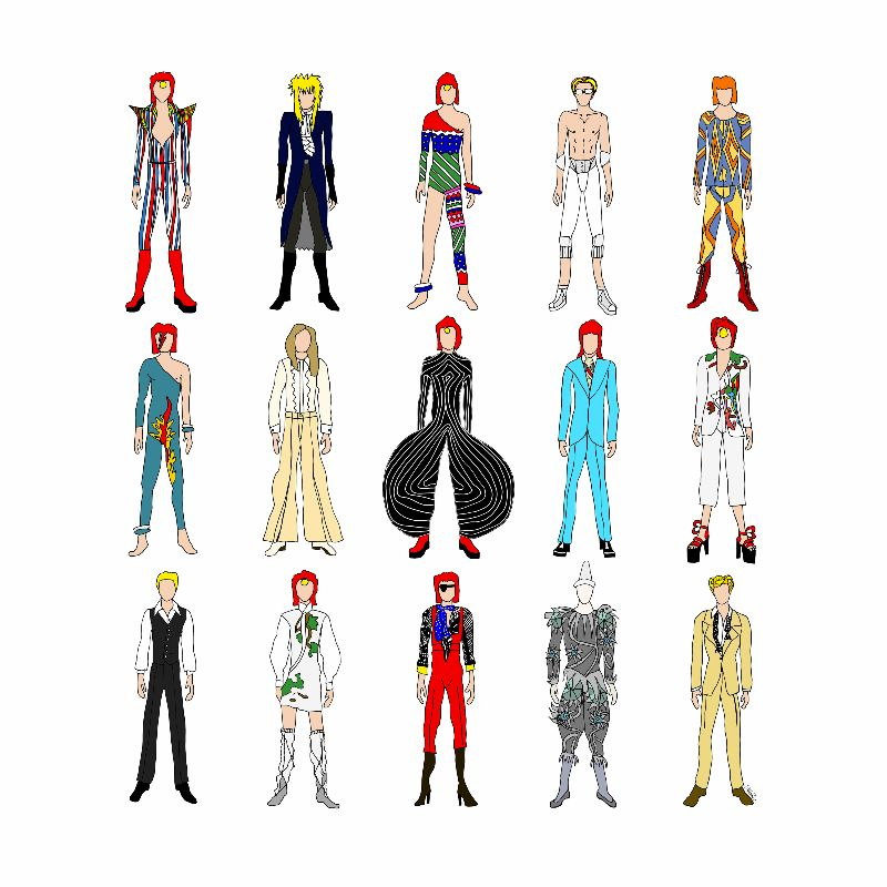Outfits of Bowie 1