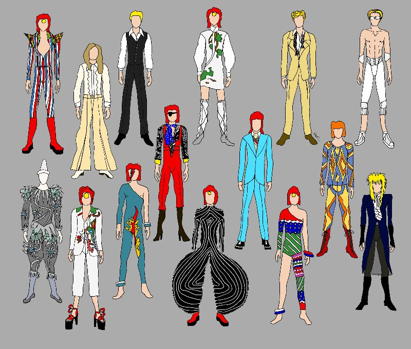 Outfits of Bowie 2